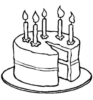 All Birthday Cake Coloring Page