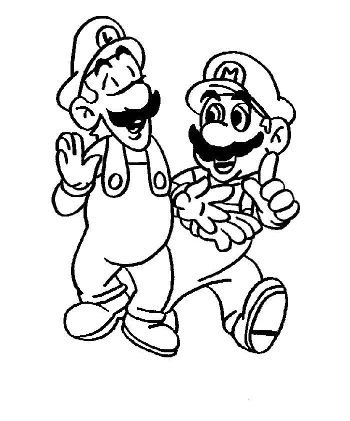 Coloring Pages: Mario Coloring Pages Collection 2010