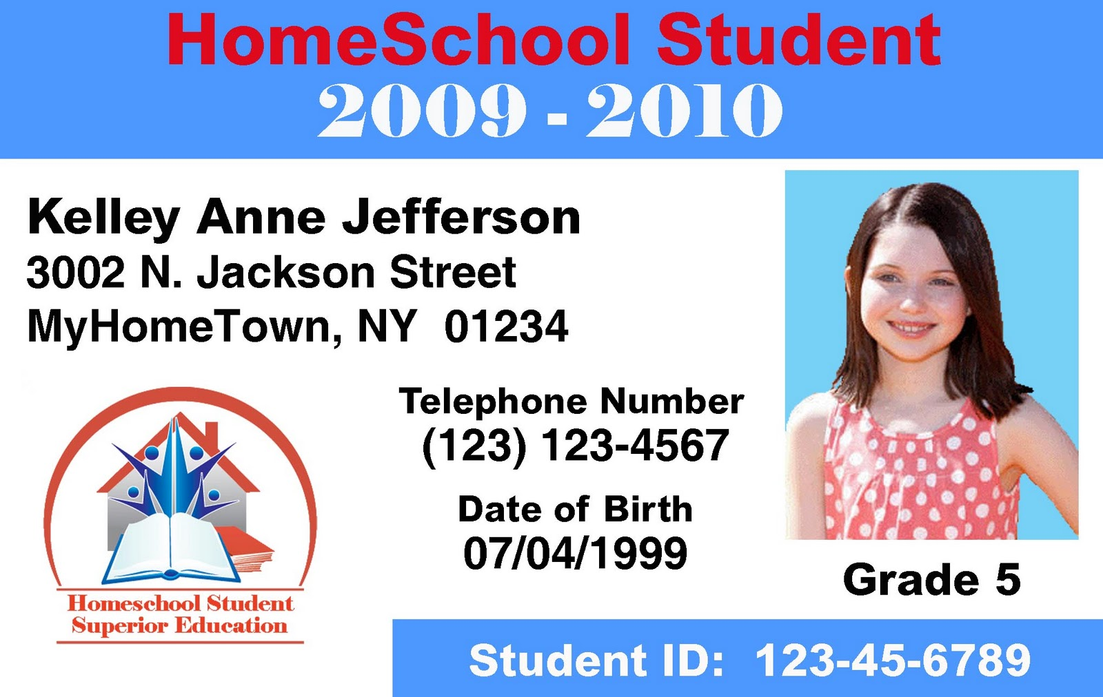 homeschool id template make id cards id card printers