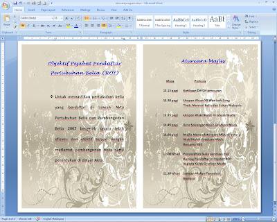 Contoh Buku Program Majlis - Contoh 36