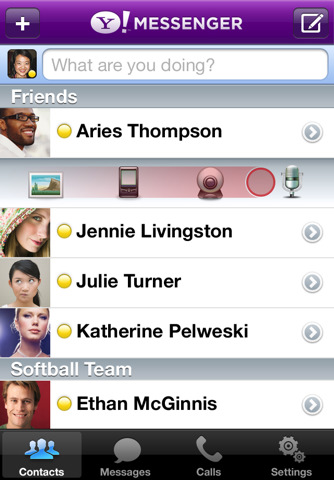 yahoo messenger for iphone yahoo messenger 2 0 for iphone hits app with 3g 16532