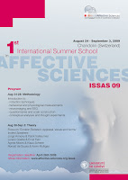 International Summer School in Affective Sciences 2009