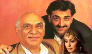 Yash chopra,Rani Mukherjee and Aditya Chopra
