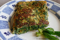 Omelette à la consoude et à l'ail des vignes