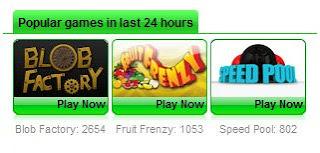 статистика игр, сыгранных на www.uvme.com в последние 24 часа