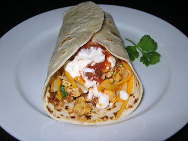 Chorizo and Scrambled Egg Burrito