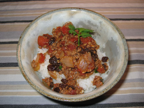 Picadillo on Rice