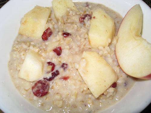 Apple Crisp Oatmeal with Cranberries