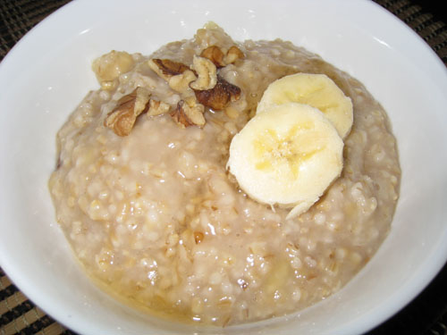 Banana, Honey and Walnut Oatmeal