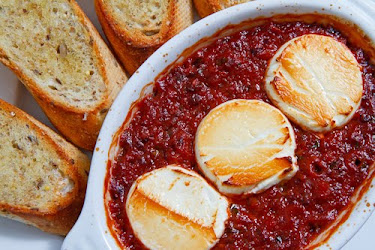 Baked Goat Cheese Marinara