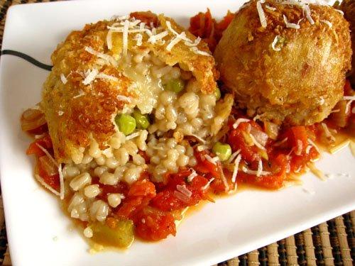 Arancini di Riso (Rice Balls) in Marinara Sauce