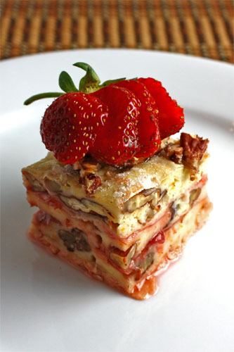 Strawberry Goat Cheese Banitsa