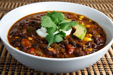Black Bean and Roasted Pepper Soup