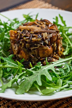 Mushroom and Leek Wild Rice Salad