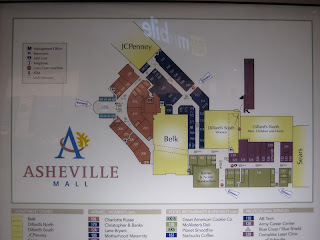 Asheville Mall Map Sky City: Retail History: Asheville Mall: Asheville, NC Asheville Mall Map