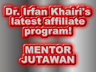 Irfan Khairi, Mentor Jutawan, Affiliate Marketing, Malaysia