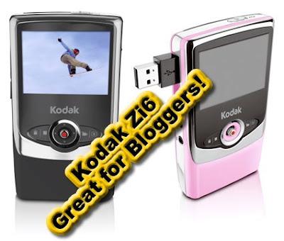 Kodak Zi6, Pocket Video Camera, Mini Camcorder