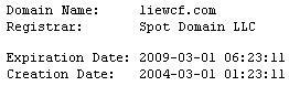 Liewcf, Creation date, History