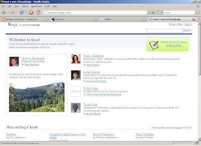 Knol, A unit of knowledge, Google AdSense,