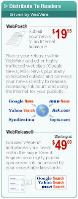 WebWire, Press Release Distribution, Traffic Building