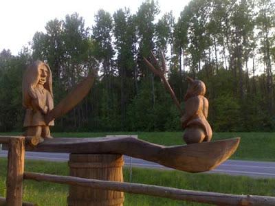 деревянные садовые скульптуры