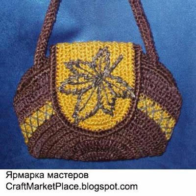 вязанные сумки из атласных лент - Сумки.