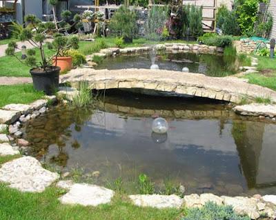 дизайн садового мостика