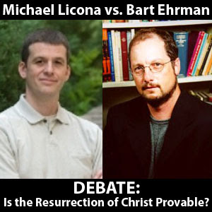 "Bart Ehrman and Michael Licona debate: ""Is the Resurrection of Christ Provable?"" This interesting debate is sure to enlighten."