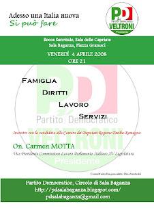 4 aprile: Carmen Motta a Sala Baganza
