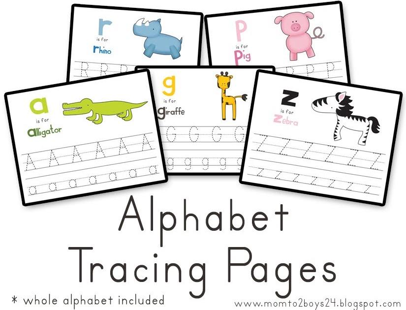 LAWTEEDAH Printables Alphabet Tracing Papers