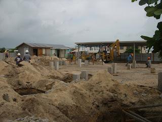 Site of new Tropic Air building San pedro Belize