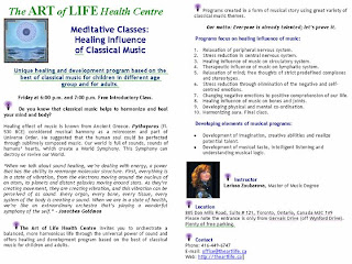 The Art Of Life Healing Influence of Classical Music Program