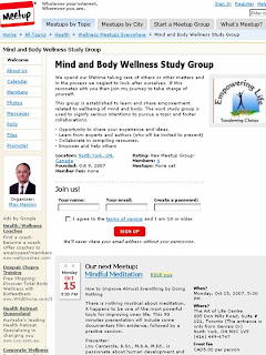 Meetup Mind and Body Wellness Study Group