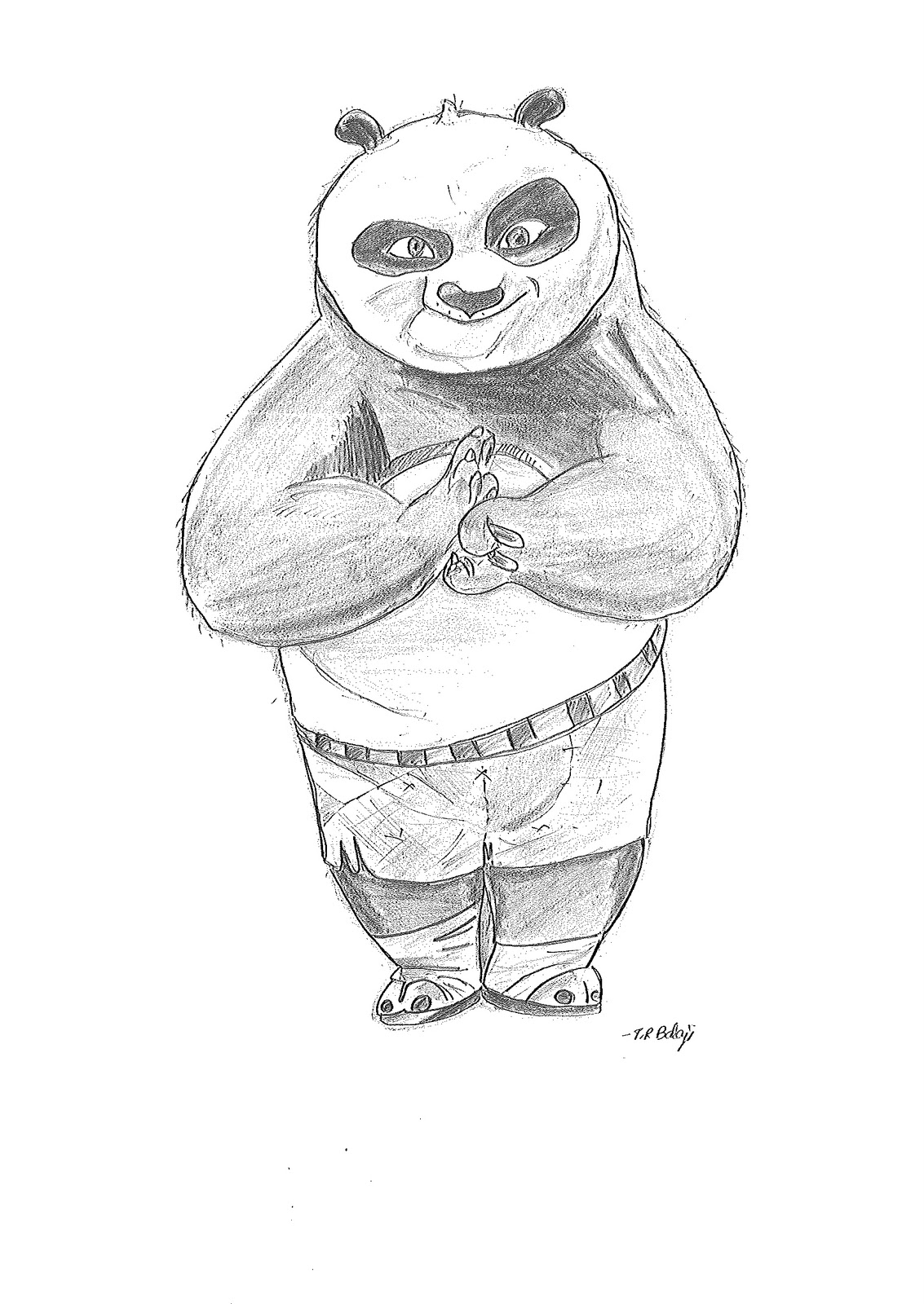 Pencil drawings kungfu panda