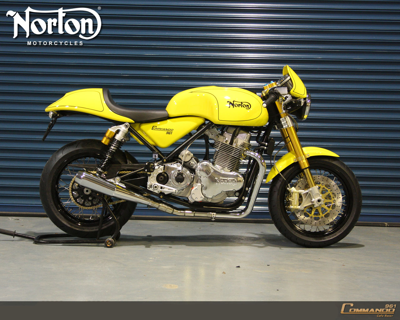 Motor Desktop Wallpaper: 2010 Norton Commando 961 Cafe Racer