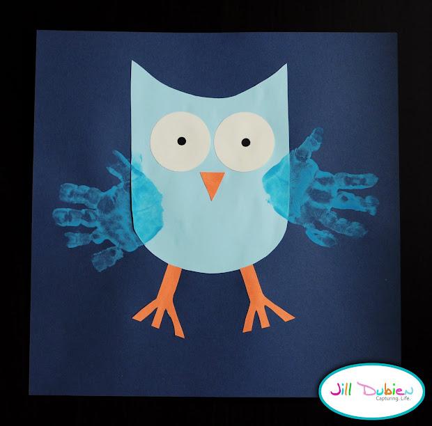 Fall Handprint Craft Owls