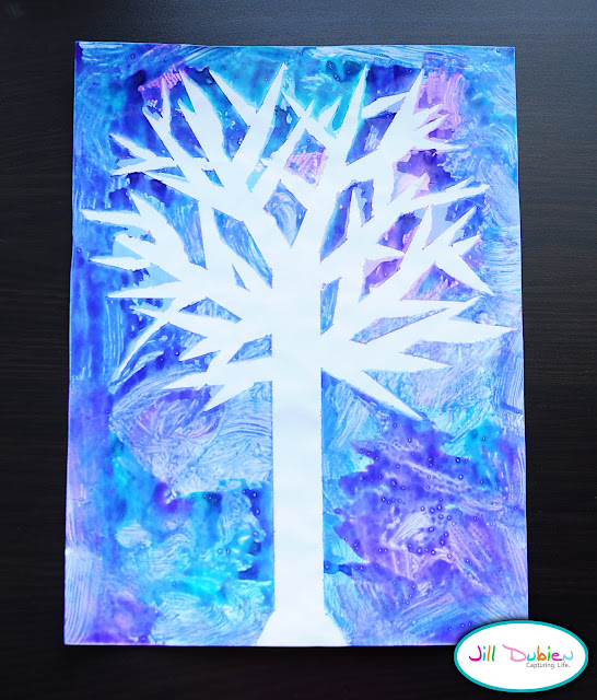 winter craft ideas for kids winter tree craft munchkins and 7331