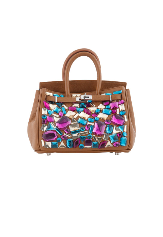 d7e065f814 Leah   Bliss Mini Uptown Pearl Black Calfskin Handbag  850.00