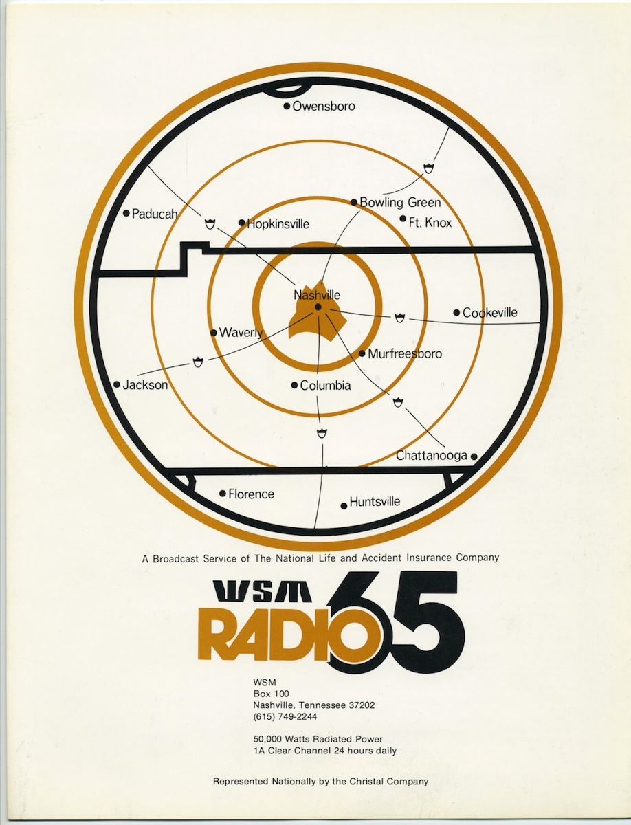 nick s radio corner 2010  shares this insert brochure from a wsm promo package sent out in the early 1970s the whole package is many pages but here s the beginning