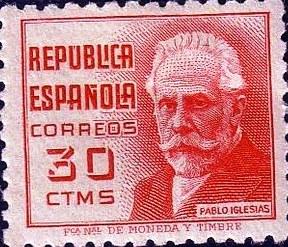 Sello Postal Pablo Iglesias