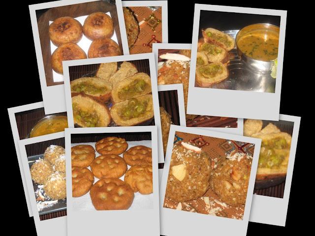 Dal Bati Churma : stuffed batis and Panchmel Dal