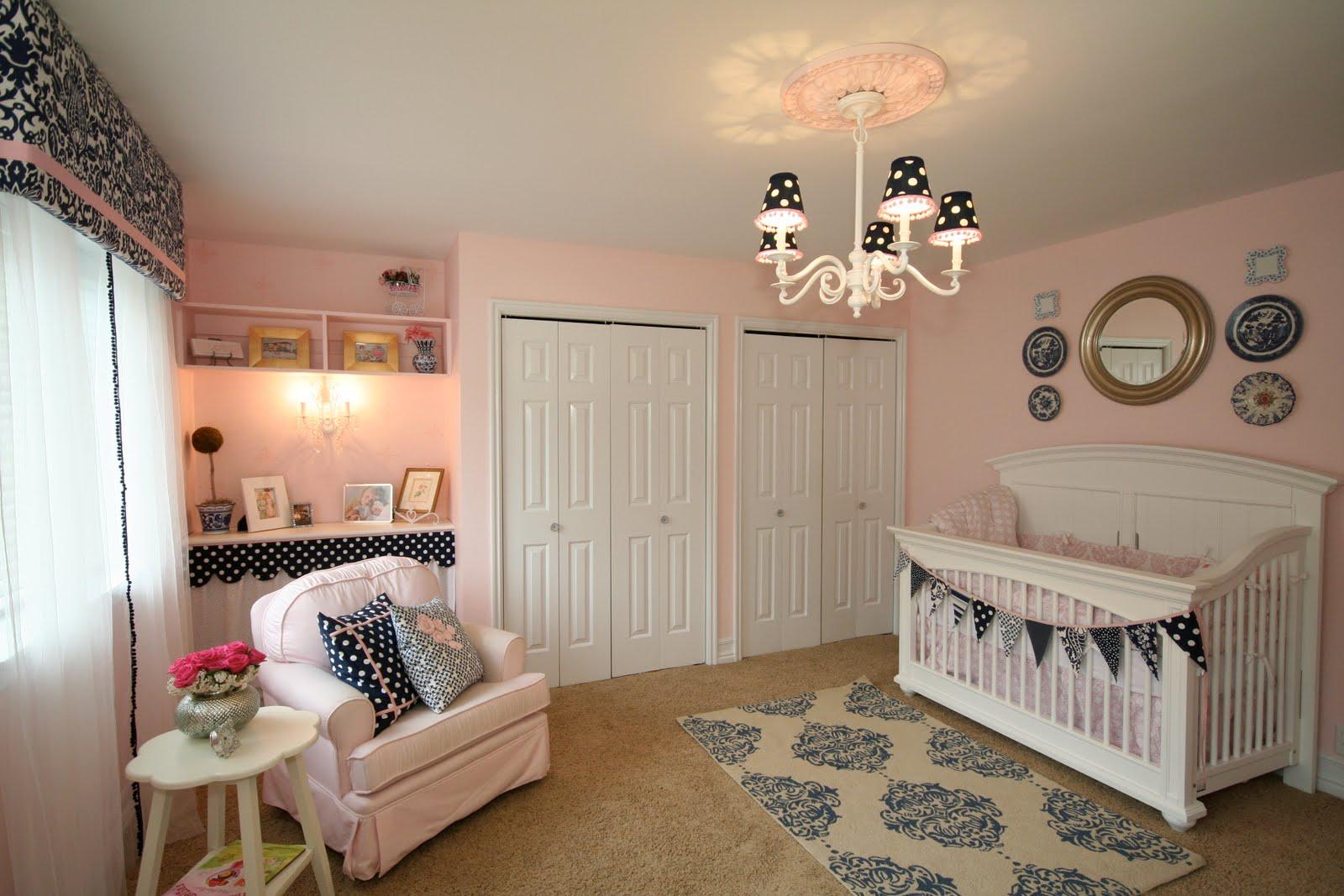 Design Dump Pink Navy Nursery