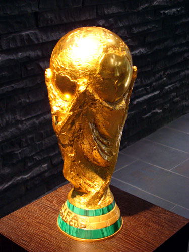 World Cup trophy at FIFA HQ, Zurich, Switzerland