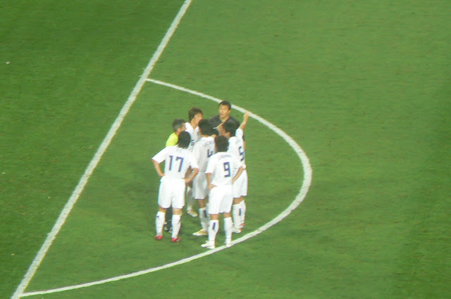 Korean players protest Switzerland's second goal
