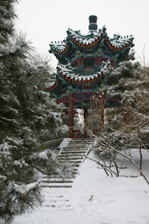Beijing in snow copyright Russell  Uebergang