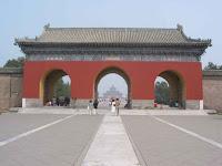 Temple of Heaven seen through an arch
