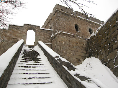Great Wall of China - turret in the snow
