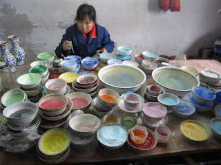 The art of cloisonne coloring in Beijing
