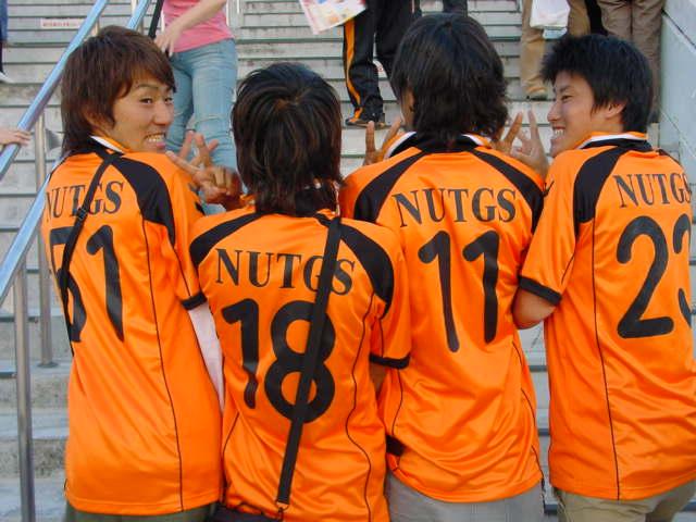 Shimizu fans go nutgs