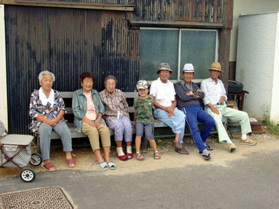 Elderly residents of Shinojima